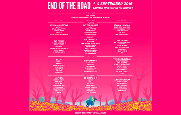End Of The Road Festival: latest news update