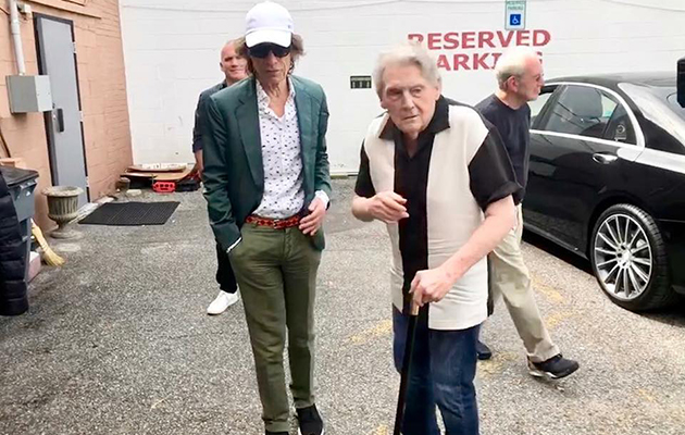 Mick Jagger and Jerry Lee Lewis pictured together at Sun Studios