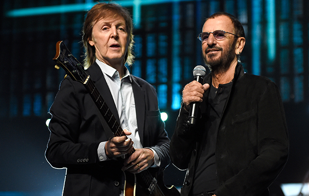 Watch Paul McCartney play two Beatles songs with Ringo Starr