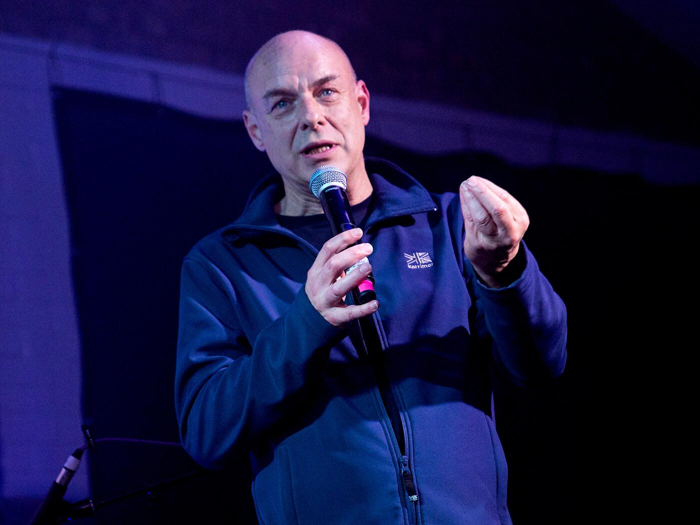 Hear Brian Eno's sarcastic election song