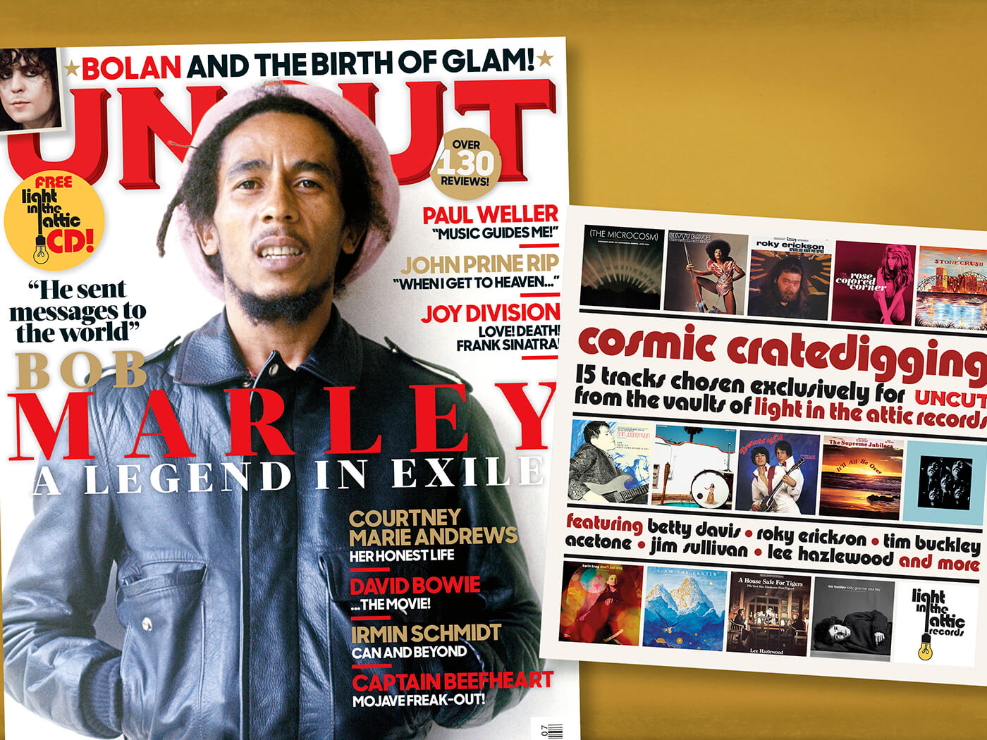 The new Uncut: Bob Marley, Marc Bolan, Paul Weller and a free Light In The Attic CD