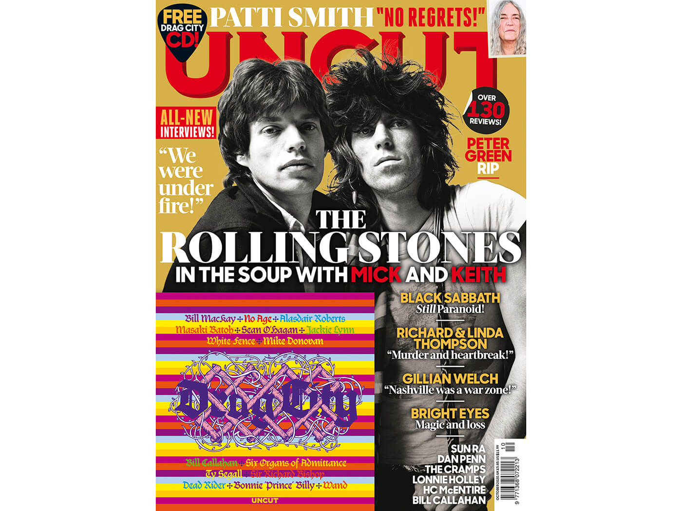 The new Uncut: the Rolling Stones, Drag City CD, Patti Smith, Peter Green RIP, Gillian Welch and more