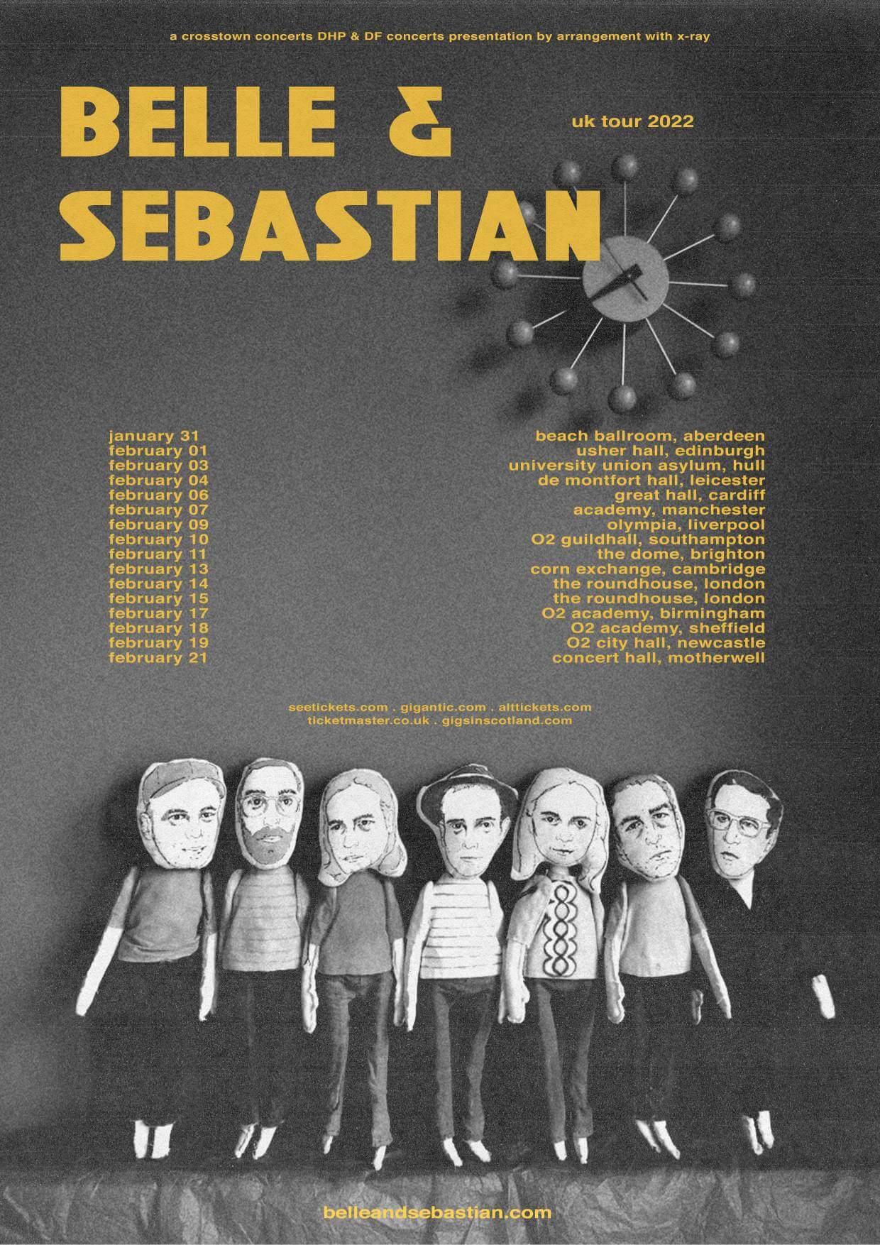 Belle & Sebastian UK tour 2022