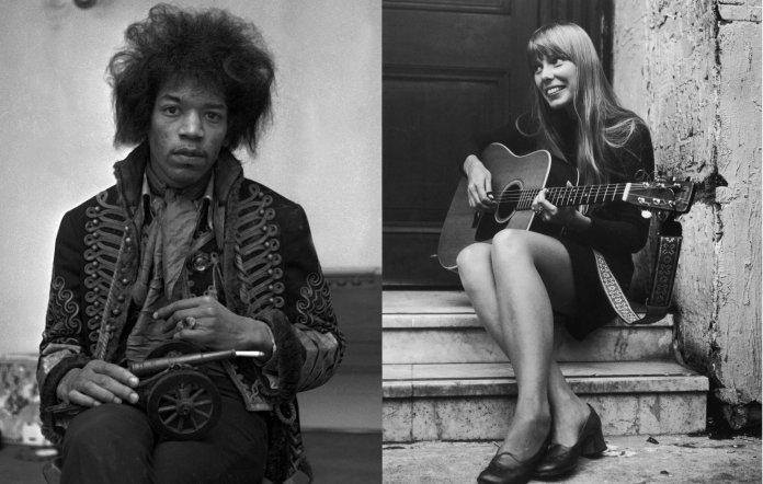 Jimi Hendrix and Joni Mitchell