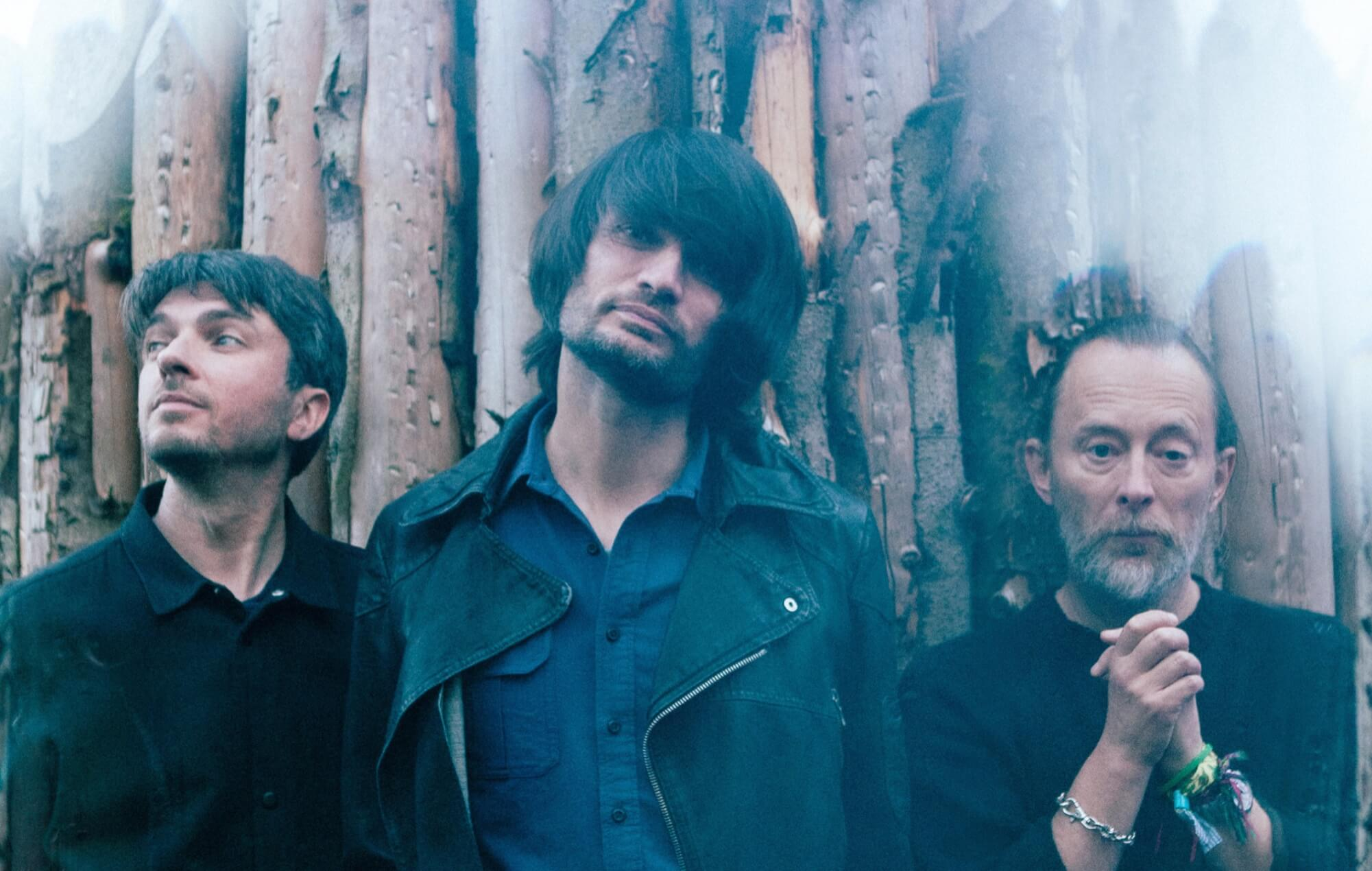 Thom Yorke, Johnny Greenwood and Tom Skinner as The Smile.