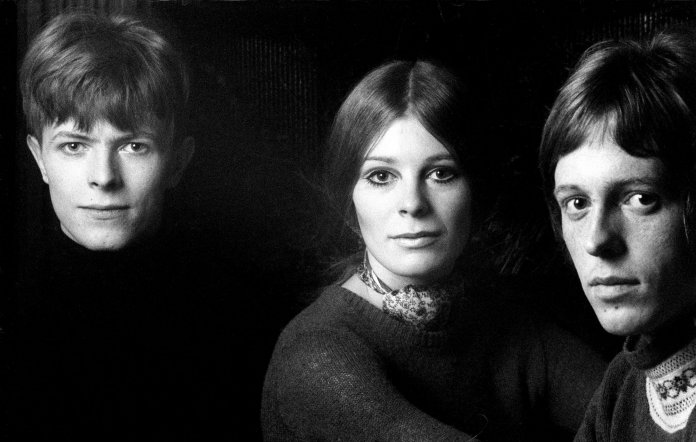 David Bowie, Hermione Farthingale and John Hutchinson in 1969. Credit: Ray Stevenson/REX/Shutterstock