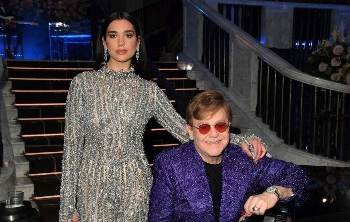 Dua Lipa and Elton John