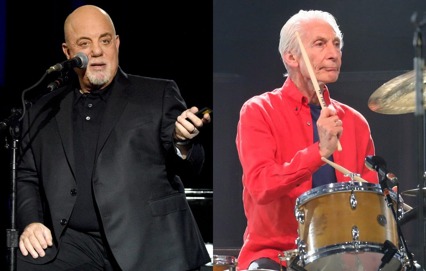 Billy Joel and the Rolling Stones' Charlie Watts.